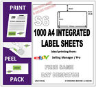 1000 EBAY SELLER MANAGER PRO INTEGRATED LABELS (S6) POST PACK ADDRESS LABEL A4