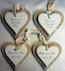Double Layer Solid Wood Hanging Shabby Chic Love Heart 'Love me Love my Dog/Cat'