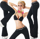 Sexy Women's New Black Bootcut Stretchy Jeans Trousers  Incl. Belt Z 735