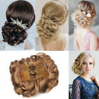 Comb Clip In Hair Bun Wave Curly Hair Piece Chignon Updo Cover Hair Extension Q8