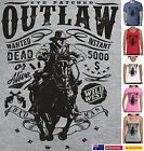 Funny T-Shirts Western Outlaw Cowboy horse rider posse rebel new  Men's Women's