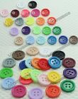 "Bulk Resin clothing sewing Buttons Scrapbooking 20mm 0.79"" 23color 4-Holes pick"