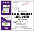 1000 EBAY SELLER MANAGER PRO INTEGRATED LABELS (D5) ADDRESS LABEL + RETURN A4