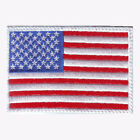 US FLAG (WHITE)  EMBROIDERED PATCH