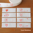 2 yards OR 10 yards - Cut & Sew Labels Valentines Heart Cotton Ribbon 15mm Red