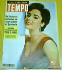 TEMPO Italian Mag. ELIZABETH TAYLOR Cover MARILYN MONROE Great Article 1956 !!!!