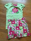 Gymboree Girls LN Outfit Island Lily Size 8 Skort Top Skirt With Shorts!