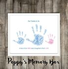 Personalised Daddy Grandad Dad Hand Word Art Birthday Gift Father's Day
