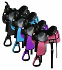 "Double T Nylon Cordura Saddle Suede Leather Seat 13"" - 4 Colors available NEW"
