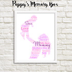 Mummy & Baby Personalised Print Christmas Birthday Mother's Day Gift Keepsake