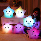 LED Bright Light Up Glowing Throw Pillow Soft Relax Cosy Sofa Star Shape Cushion