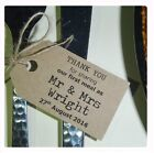 25 Personalised Wedding Favour Gift Tags Thank You First Meal Small Luggage Tag