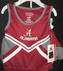 University of Alabama Toddler Crimson and Grey Cheerleader Outfit with Script A