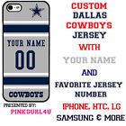Custom Dallas Cowboys Phone Case Cover w Your Name & Jersey Number IPhone