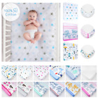 Nursery Baby Cotton Fitted Sheet Crib Cot Bed Matching Bedding Pattern/ Design