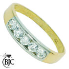 BJC® 9ct Yellow gold Cubic Zirconia Eternity Rings size L M engagement ring R152