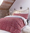 Catherine Lansfield Brushed Cotton Hearts Flannelette Bedding