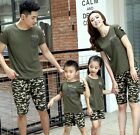 1set Summer family clothing outfits camouflage man woman Girls Boys shirt pants