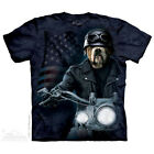 The Mountain Biker Sam Bulldog Harley Adult Men T-Shirt S-2XL Short Sleeve
