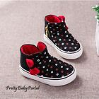 NEWFashion Baby Toddler'sGIRLS Floral Sports Casual Canvas Black Boots Shoes