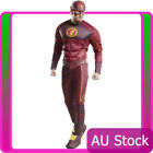 Licensed Deluxe Mens The Flash 2 Muscle Costume Chest Justice League Fancy Dress