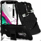 Shock Proof Dual Layer Heavy Duty Case Cover+Stereo Headphones for LG