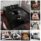 Animal Print Duvet Cover with Pillowcase Bedding Set Matching Throw Available