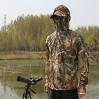 Plus Size Men's Outdoor Bionic Camo Clothes Hunting Long Sleeves T-Shirt
