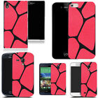 case fits sony xperia m2 xperia z2 xperia z3 - silicone red blocked pattern