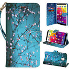 For BLU Studio XL D850Q Design Phone Case Hybrid Leather Wallet Pouch Flip Cover