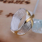 New Fashion  Women Ring fashion Jewelry 925 sterling silver plated Size 6-10 Hot