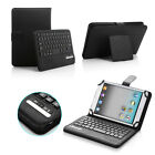 """Universal w/ Bluetooth Keyboard Case Cover For 7"""" 7.9"""" 8"""" inch Tablet PU Leather"""