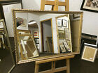 30mm ORNATE GOLD SHABBY CHIC STYLE WALL AND OVERMANTLE MIRRORS - VARIOUS SIZES