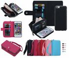 Colors Leather Wristlet Cash Clutch Wallet Card Slot Case For iPhone & Samsung