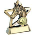 Resin Horse Trophy in 2 Sizes with Free Engraving up to 30 Letters
