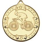 Cycling Medal 50 mm in 3 Colours with FREE Ribbon & Engraving up to 30 Letters