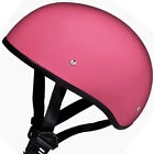 SMALLEST DOT Daytona WOMENS GLOSS PINK Motorcycle Half Helmet LOW PROFILE D1DNS