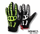 Spakct Fashion Full Finger Cycling Gloves-Skeleton Green Or White Color