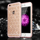 New Bling Rhinestone ShockProof Silicone Clear Case Cover For iPhone 6 6S Plus