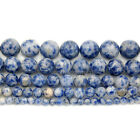Natural Blue Spot Jasper Gemstone Round Loose Spacer Beads 16'' 4mm 6mm 8mm 10mm