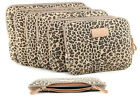 """Canvas Leopard Laptop Sleeve Bag Notebook Cover Pouch 10"""" 11"""" 12"""" 13.3"""" 14 15.6"""""""