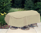 "Waterproof Outdoor Patio Furniture Table&Chair Oval/Rectangle 108"" x 60"""