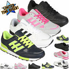 NEW LADIES RUNNING SHOES WOMENS TRAINERS GIRLS SPORTS GYM LACE UP FITNESS SIZE