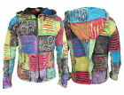 Hippie Men Ribs Patch Cotton Pixie Pointed Hood Slashed Razorcut Casual Jackets