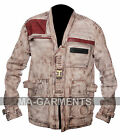 Men's Star Wars The Force Awakens Finn John Boyega Waxed Leather Jacket £119.95 GBP