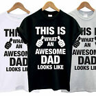 AWESOME SUPER DAD DADDY POPS T SHIRT FATHERS DAY GIFT PRESENT TEE TOP FUNNY COOL