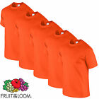 5 Pack Mens Tshirt Fruit of The Loom Cotton T Shirt Workwear Wholesale Top