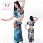New 2016 Women Belly Dance Costumes Set Suit Stage Performance 2PCS Top Skirt