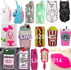 3D Soft Silicone Phone Case Cover Shell For iPhone 4/4S 5/5S/5C 6/6S Plus SE