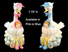 """Stork Baby Shower Party Items Decor Ceramic Cake topper Centerpieces 7.75""""H 1PC"""